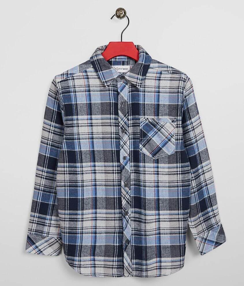 Boys - Departwest Flannel Shirt front view