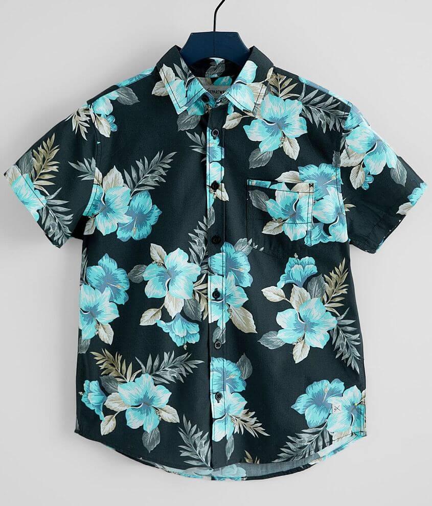 Boys - Departwest Tropical Floral Shirt front view