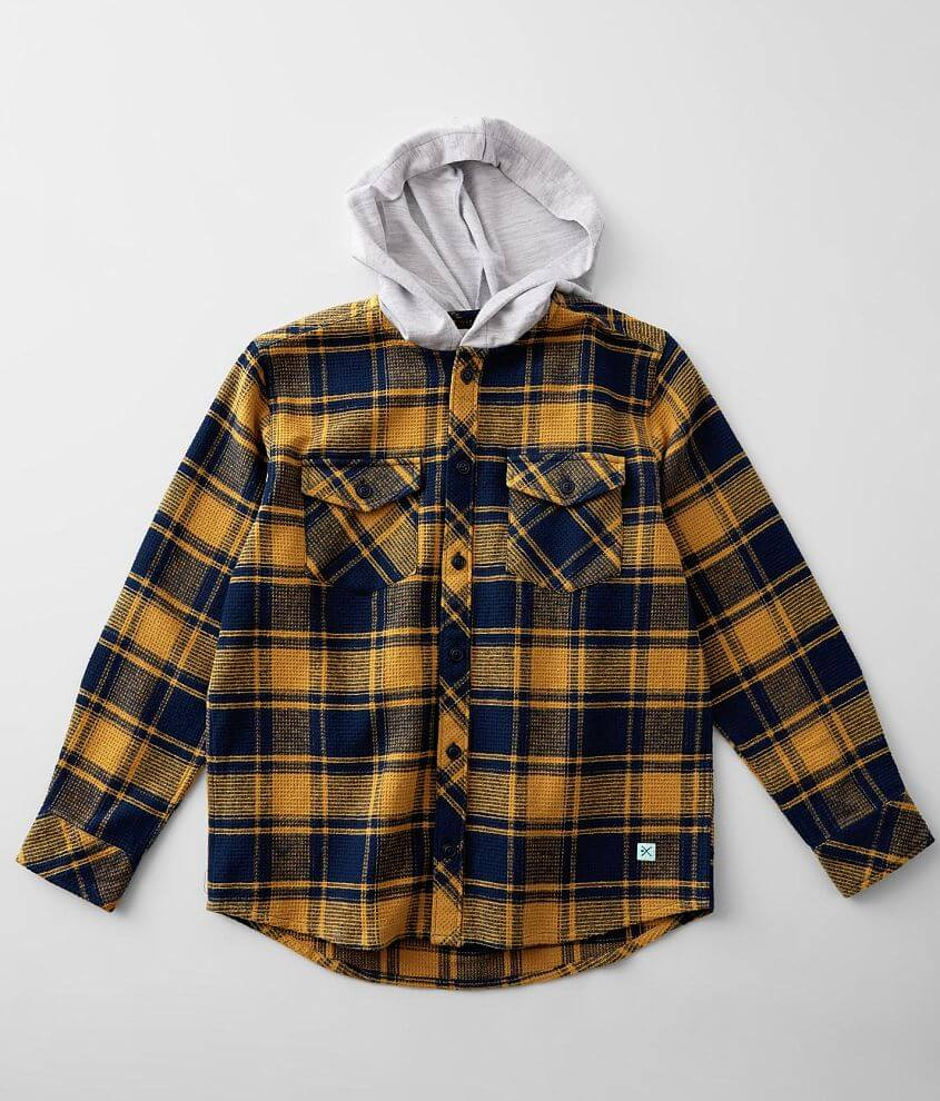 Boys - Departwest Flannel Hooded Shirt front view