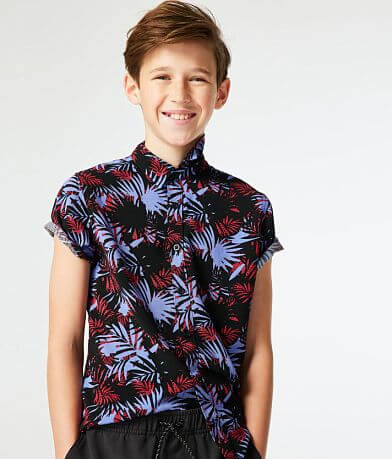 Boys - Departwest Tropical Print Shirt