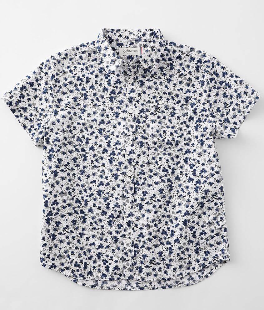 Boys - Departwest Woven Floral Shirt front view