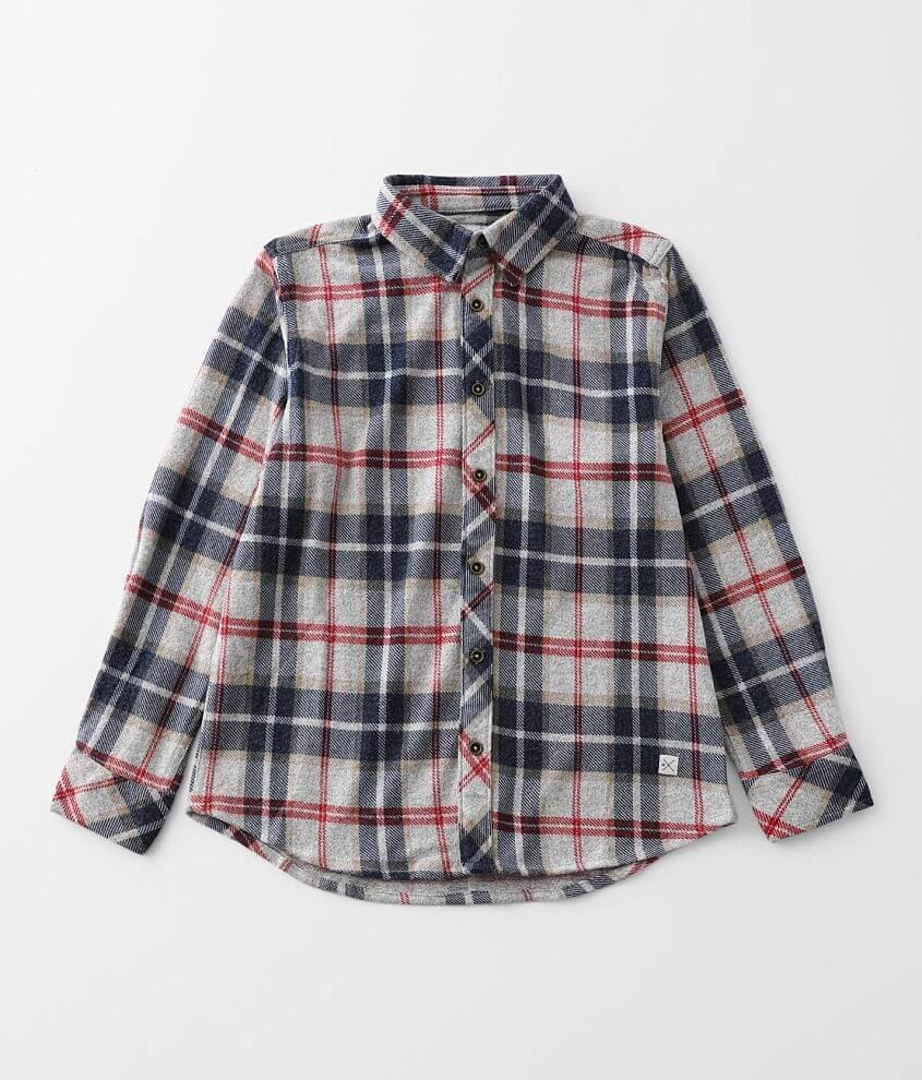 Boys - Departwest Flannel Knit Shirt front view