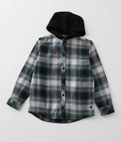 Boys - Departwest Hooded Flannel Shirt
