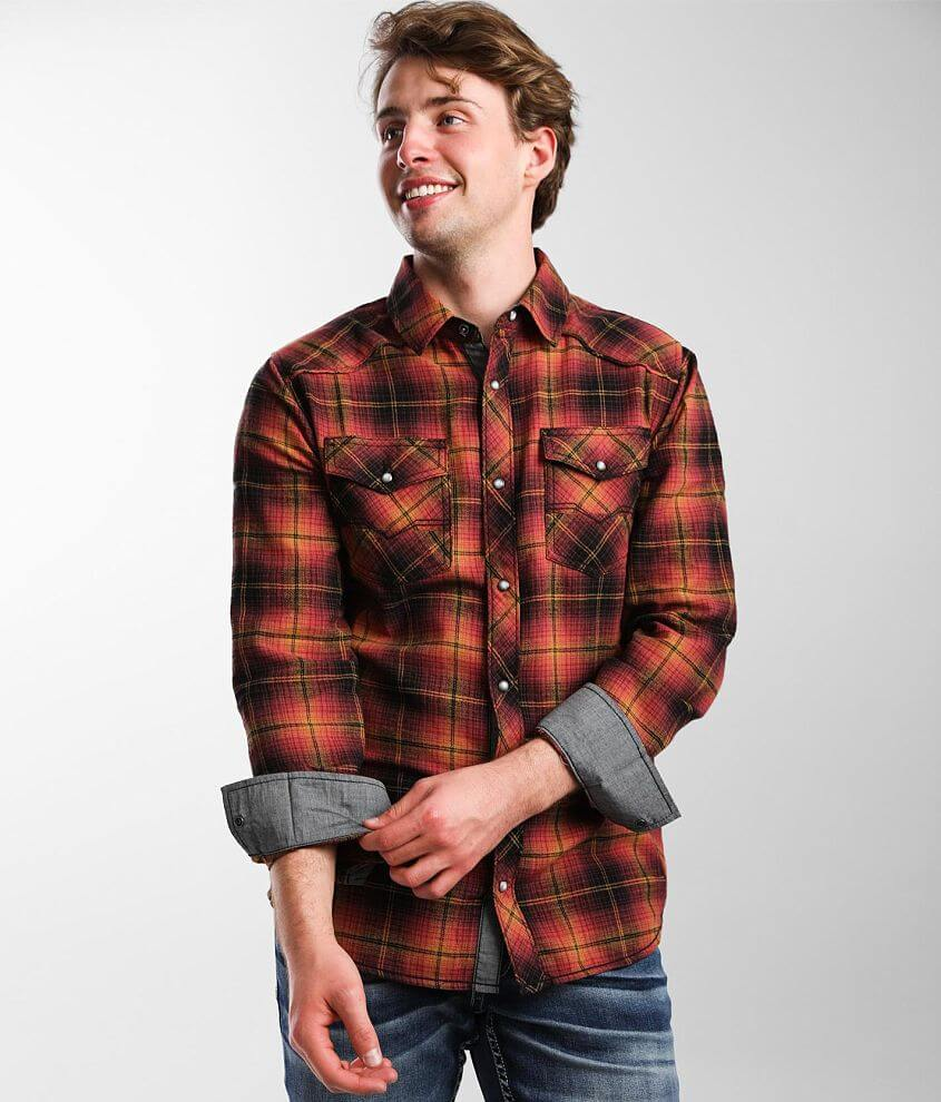 BKE Flannel Standard Shirt front view