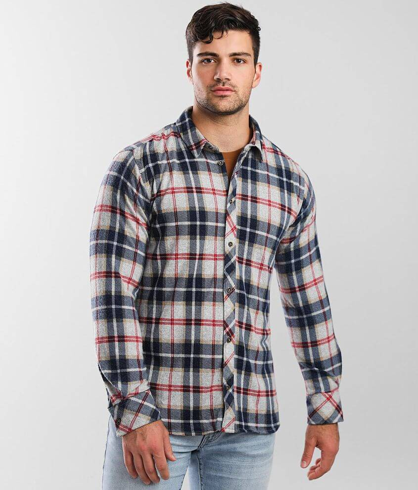 Departwest Flannel Knit Shirt front view