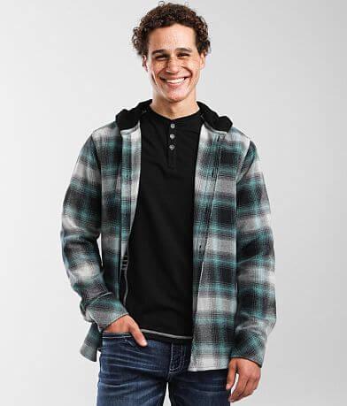 Departwest Hooded Flannel Shirt