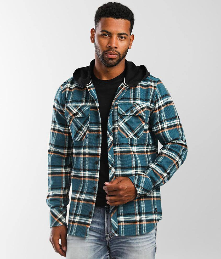 Departwest Hooded Flannel Shirt front view