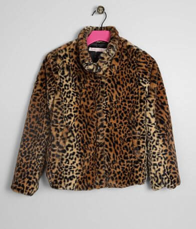 Girls - Ci Sono Cheetah Print Jacket