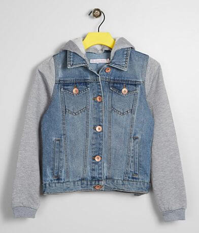 Girls - Ci Sono Hooded Denim Jacket