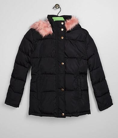Girls - Ci Sono Faux Fur Hooded Puffer Coat