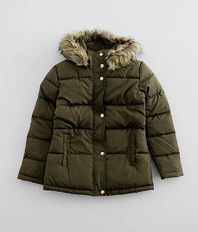 Girls - Ci Sono Faux Fur Hooded Puffer Coat