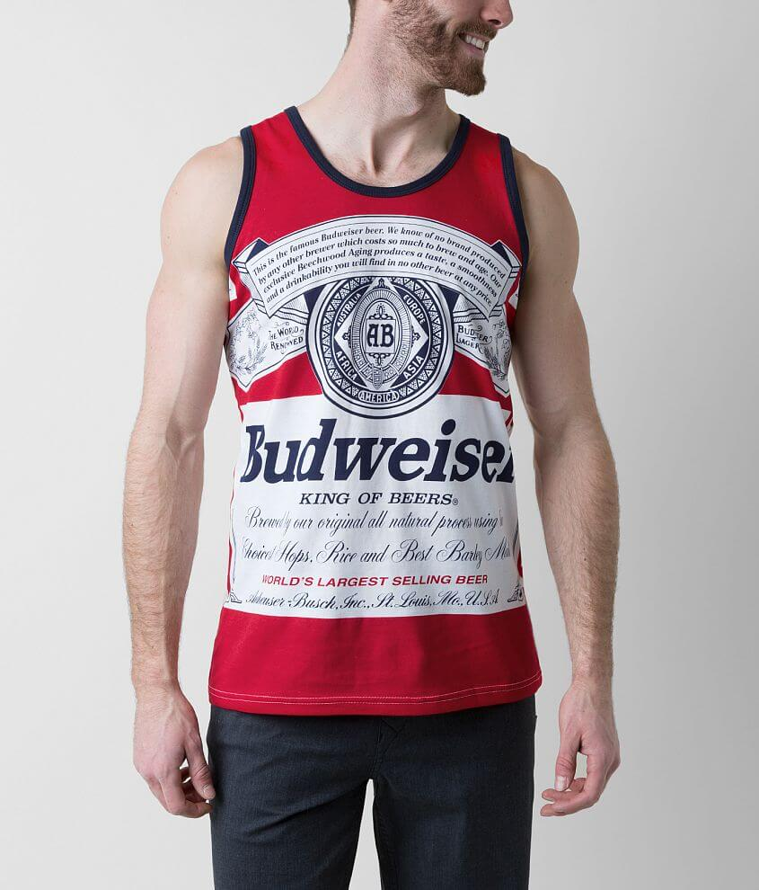 3ab9120adc8244 Budweiser King of Beers Tank Top - Men s Tank Tops in Red