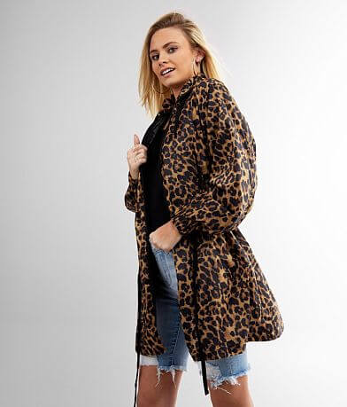 Ci Sono Lightweight Leopard Windbreaker Jacket