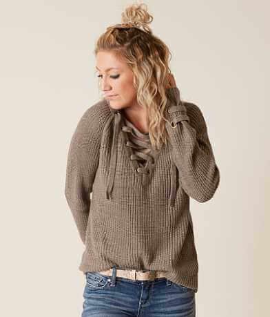 Ci Sono Lace-Up Sweater