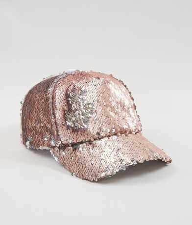 Steve Madden Sequin Baseball Hat