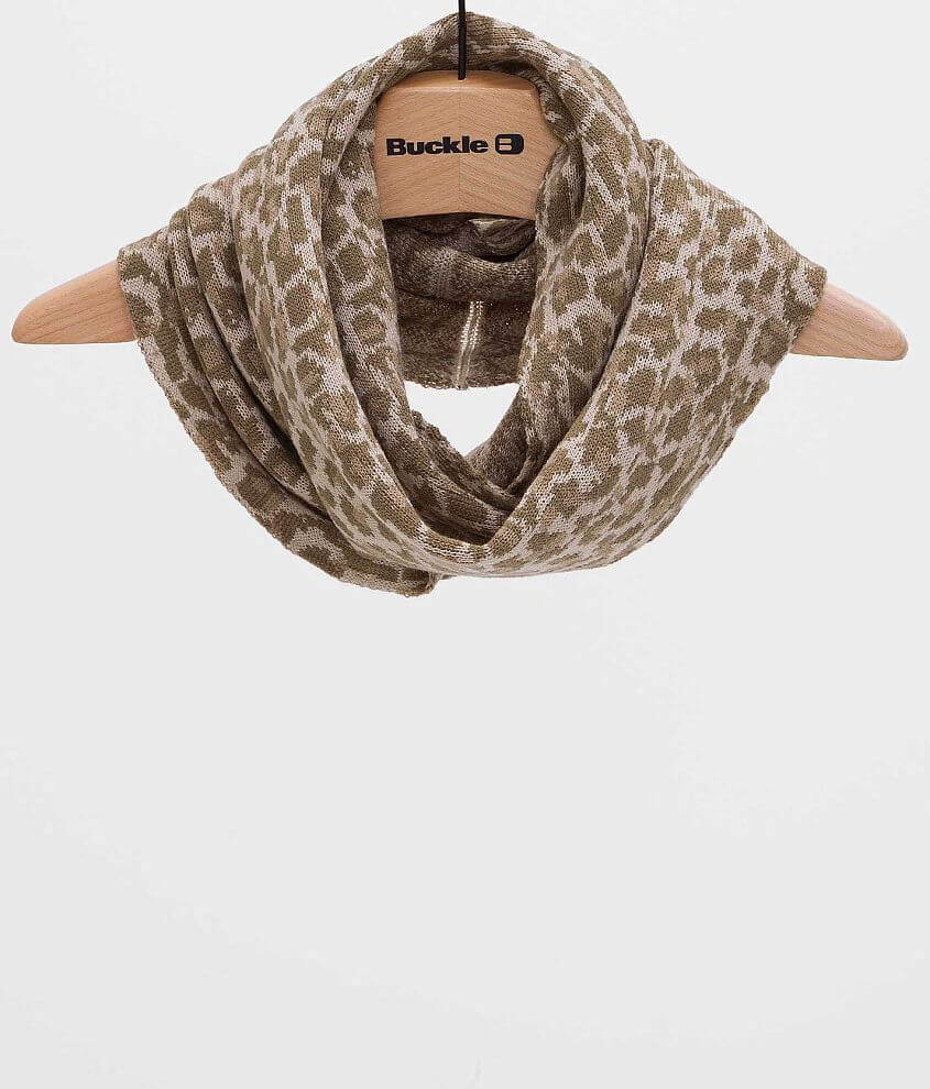Leopard Scarf front view