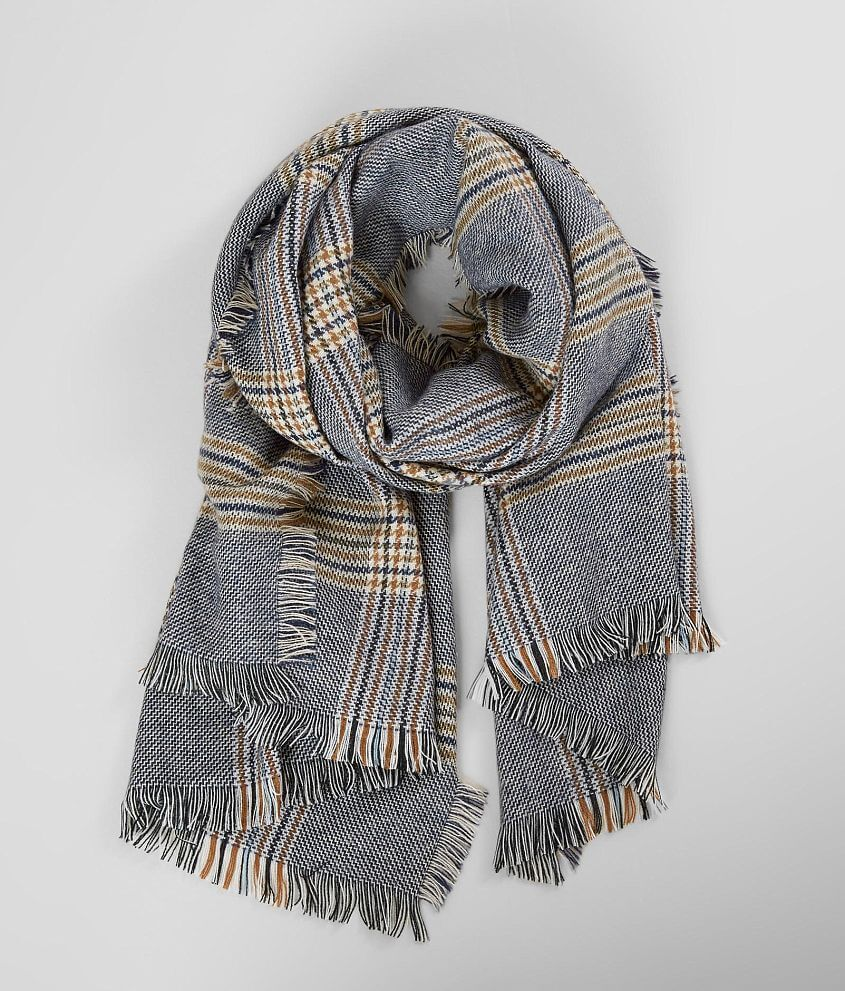 c798684bae86e Plaid Blanket Scarf - Women's Accessories in Navy | Buckle