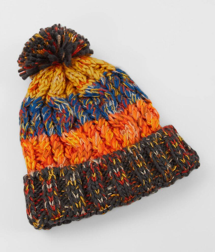 BKE Chunky Cable Knit Beanie front view