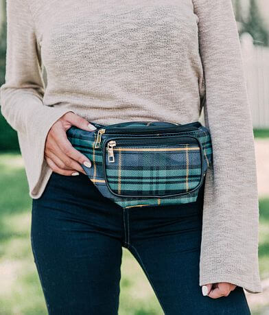 BKE Plaid Fanny Pack