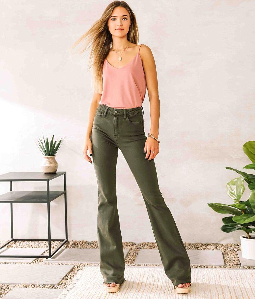 Cello Jeans High Rise Flare Stretch Jean front view