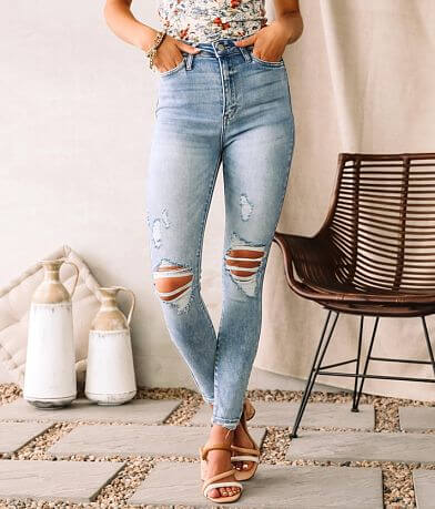 Cello Jeans High Rise Ankle Skinny Stretch Jean