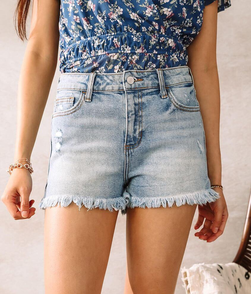 Cello Jeans High Rise Stretch Short front view