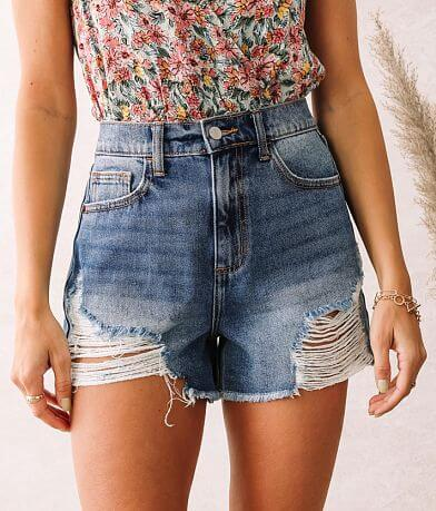 Cello Jeans High Rise Mom Short