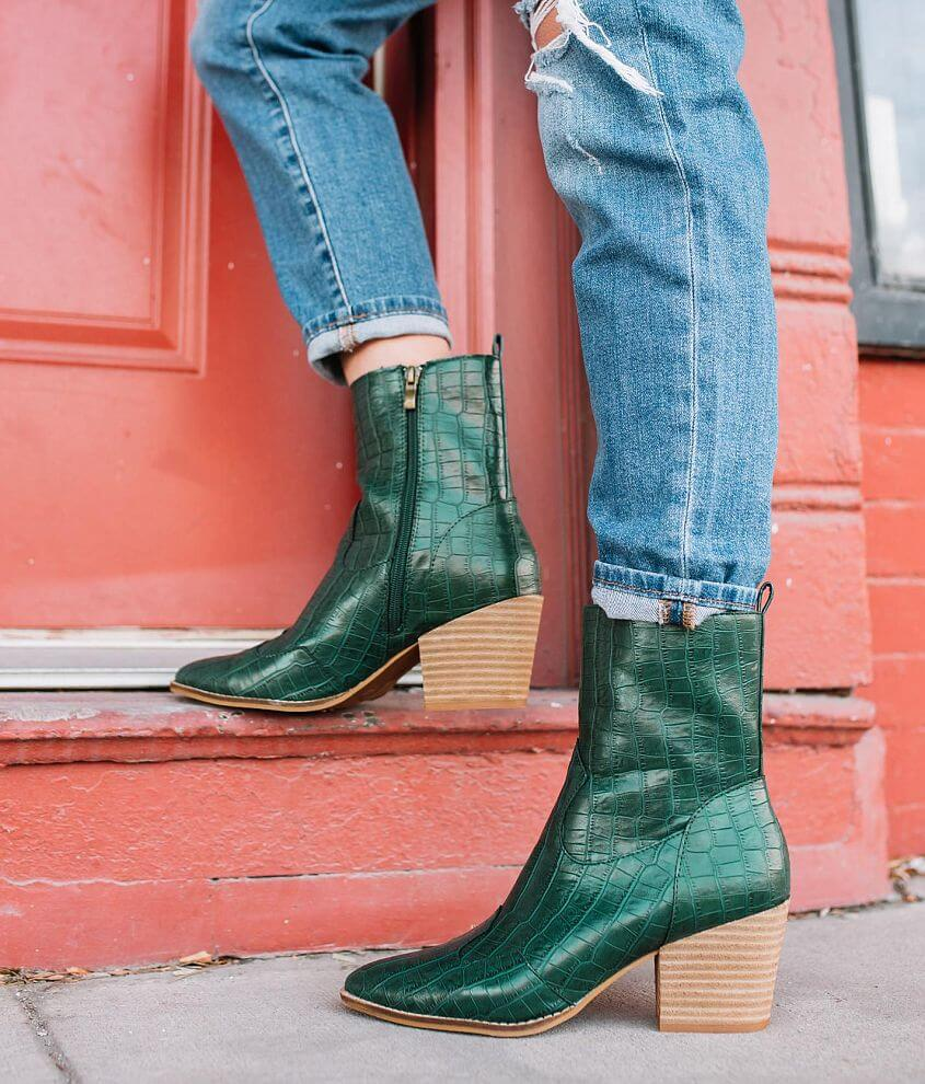 CCOCCI Donatella Faux Crocodile Ankle Boot front view