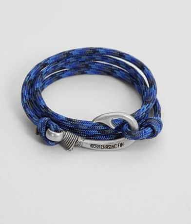 Chasing Fin Denim Wrap Bracelet