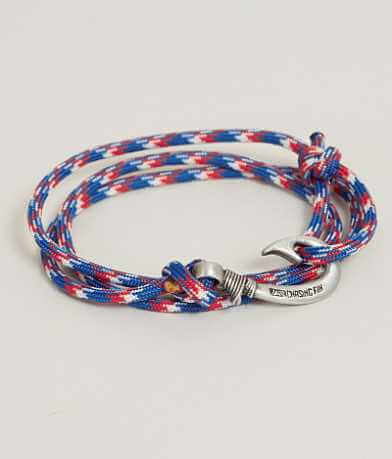 Chasing Fin Red White Blue Wrap Bracelet