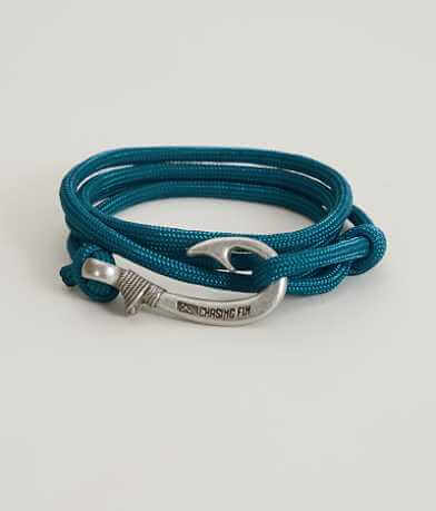 Chasing Fin Sea Blue Wrap Bracelet