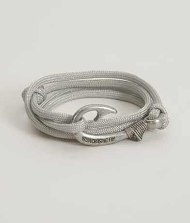 Chasing Fin Silver Wrap Bracelet