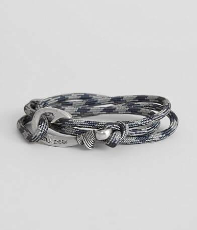 Chasing Fin Navy & Gray Wrap Bracelet