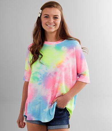Cherish Oversized Tie Dye Dolman Thermal Top