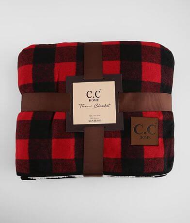 C.C® Plush Plaid Throw Blanket