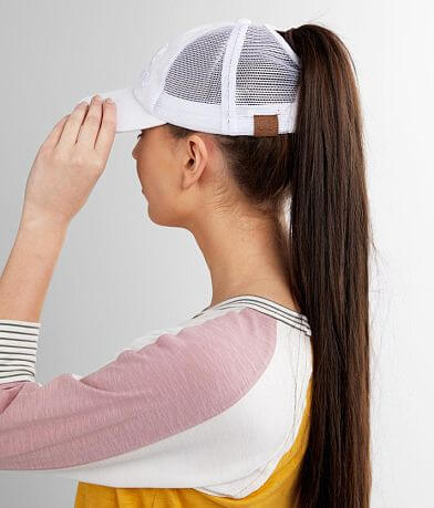 C.C® Resting Beach Face Ponytail Baseball Hat