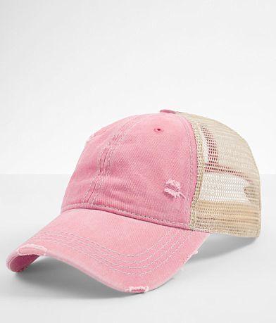 C.C® Distressed Ponytail Trucker Hat