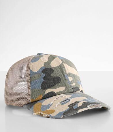 C.C® Camouflage Ponytail Trucker Hat