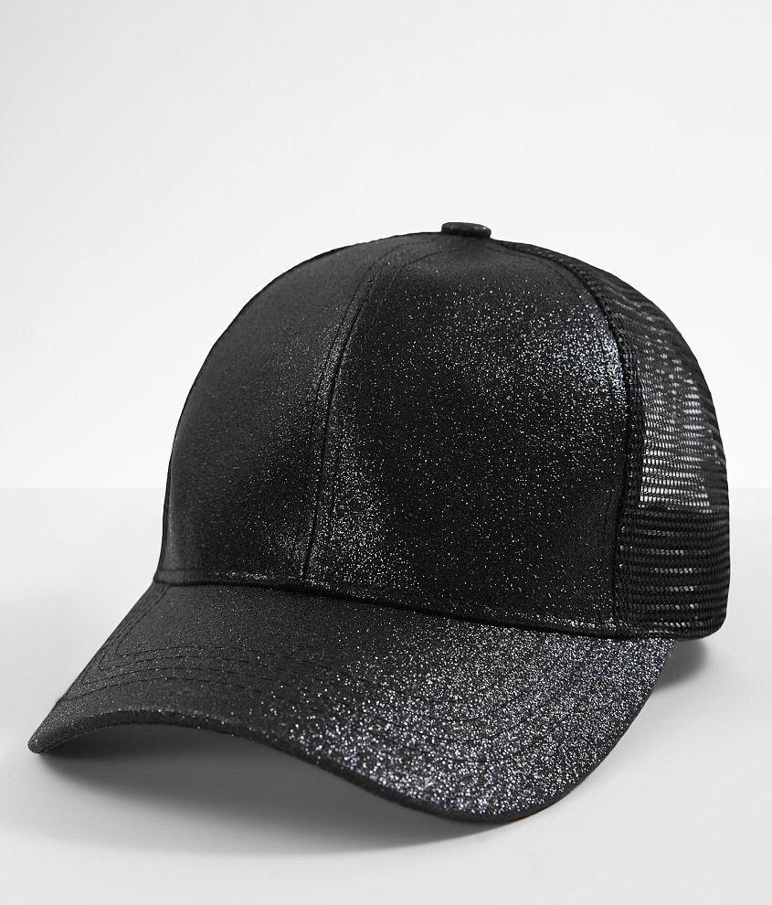 6cd247a11b488 C.C® Glitter Ponytail Baseball Hat - Women s Hats in Black