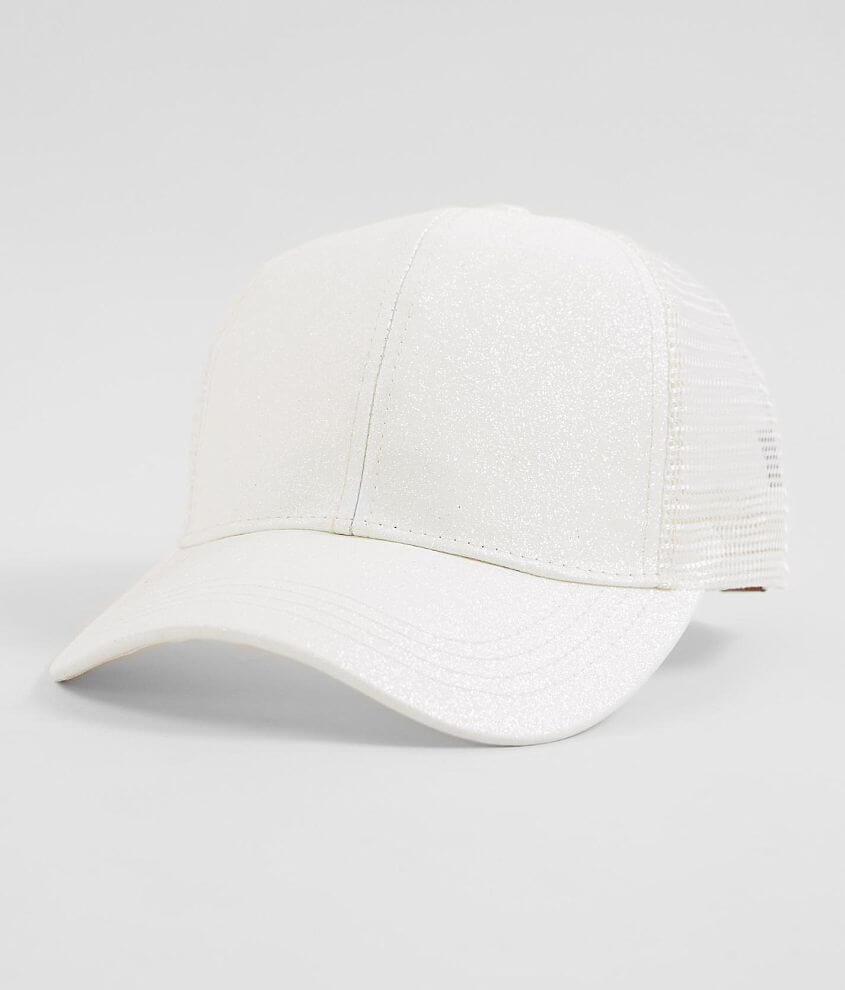 f49aef07f6e35 C.C® Glitter Ponytail Baseball Hat - Women s Hats in White