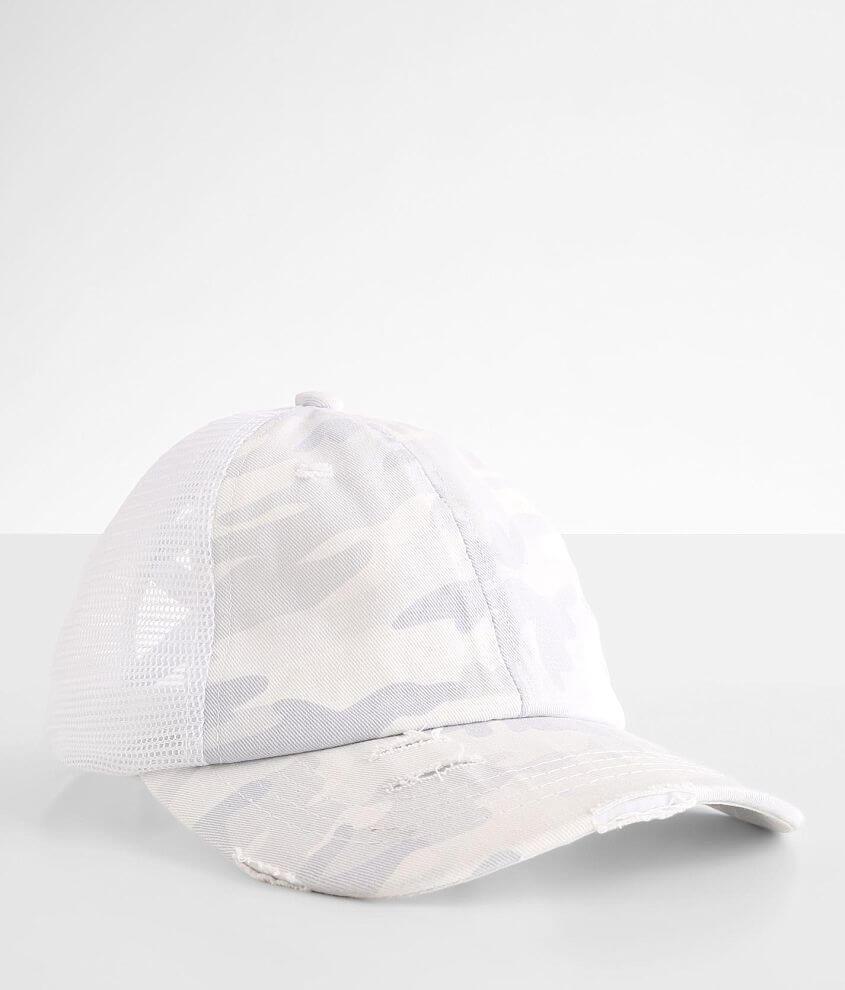 C.C® Camouflage Criss Cross Trucker Hat front view