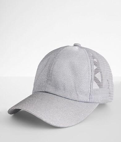 C.C® Glitter Criss Cross Ponytail Hat