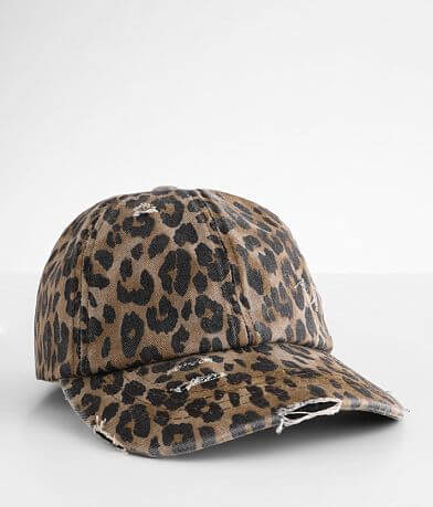 C.C® Leopard Criss Cross Ponytail Hat