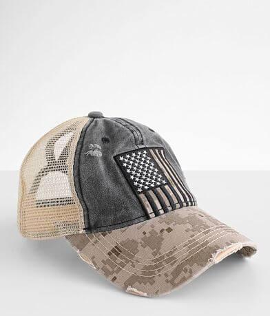 C.C® Flag Ponytail Trucker Hat