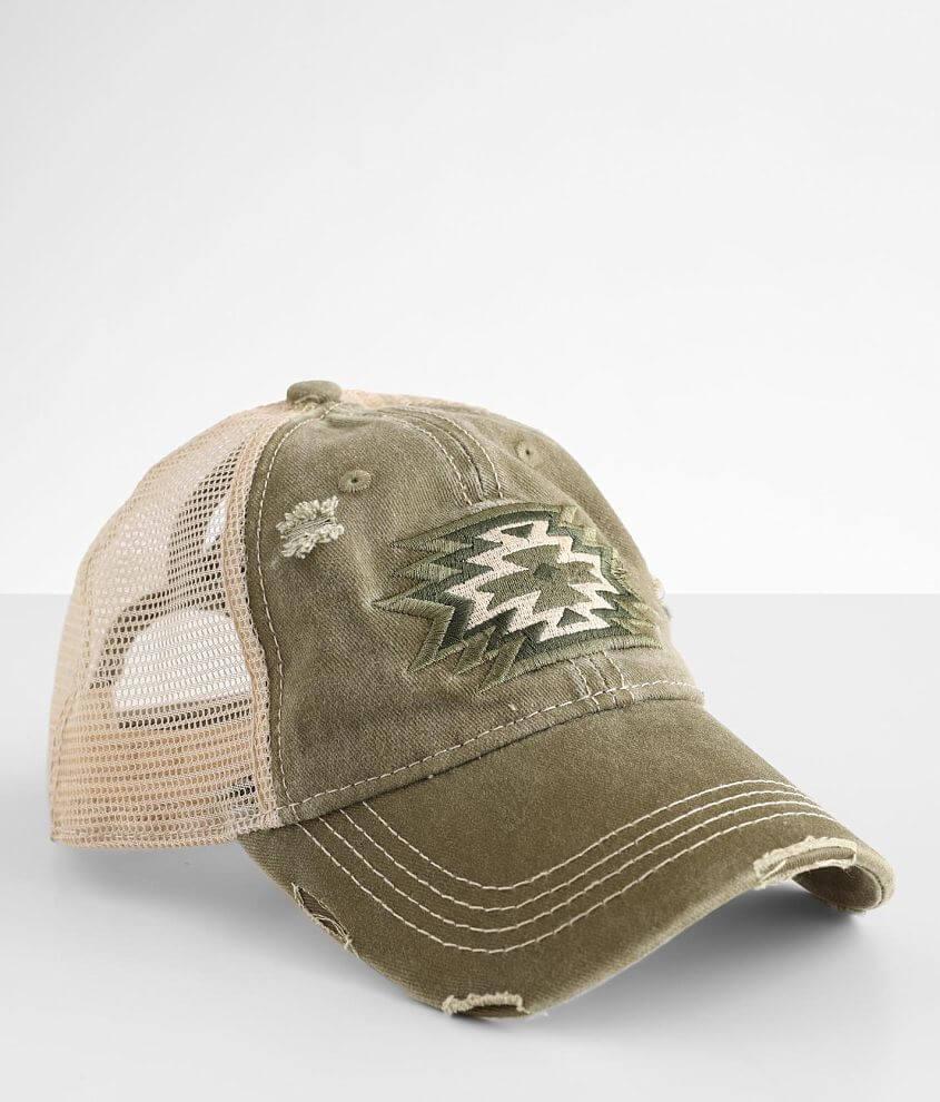 C.C® Southwestern Ponytail Trucker Hat front view