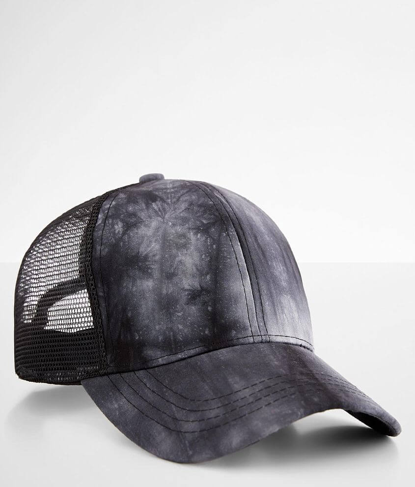 C.C® Tie Dyed Ponytail Baseball Hat front view