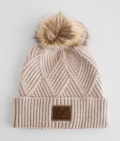 C.C® Textured Knit Pom Beanie