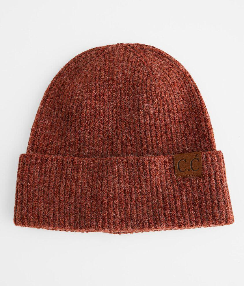 C.C® Ribbed Beanie front view