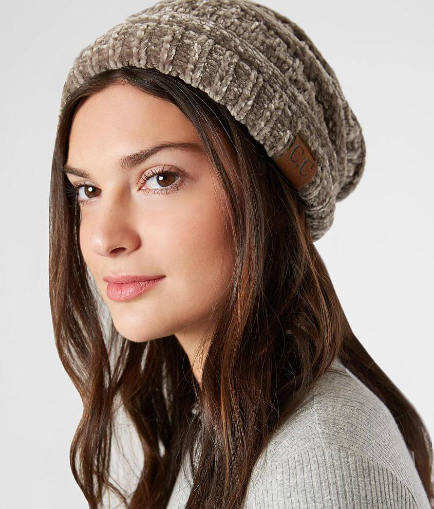 C.C Chenille Beanie - Women s Hats in Taupe  dfb3eb762c8