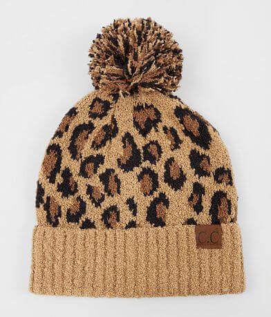 C.C® Leopard Pom Beanie